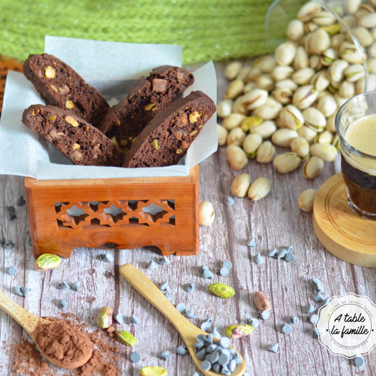 Biscotti chocolat pistache