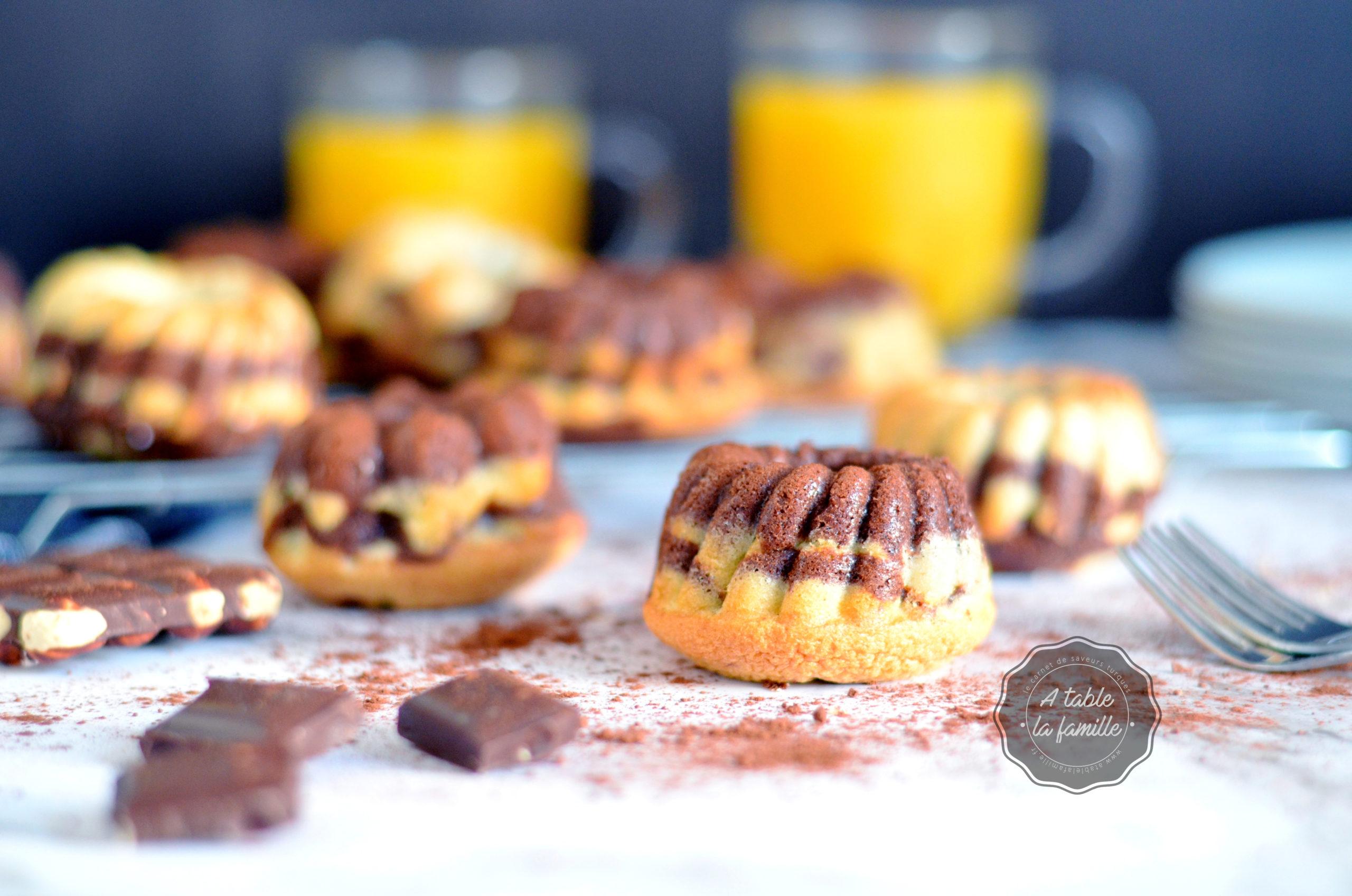 Mini marbrés vanille chocolat